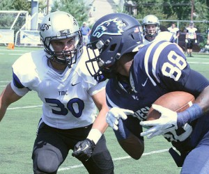 Thomas More gets credit for scheduling up, as go a handful of other teams, even though they lost.(Wesley athletics photo)