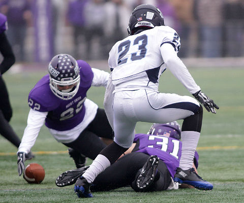 Will Hiteshue had a big impact on the Wesley offense, with two takeaways on Saturday. (Photo by Dan Poel, d3photography.com)
