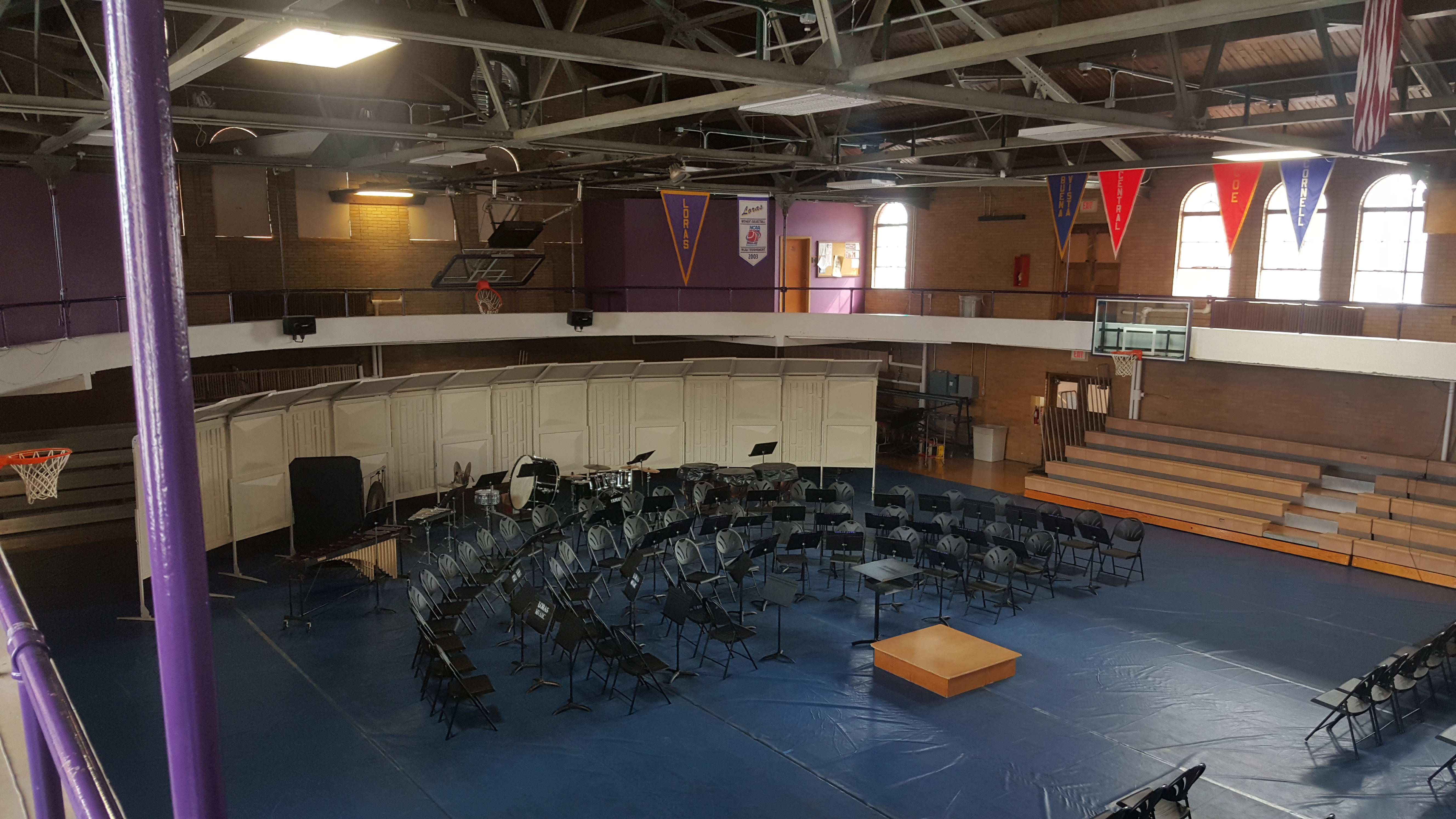 Old gym series: loras fieldhouse